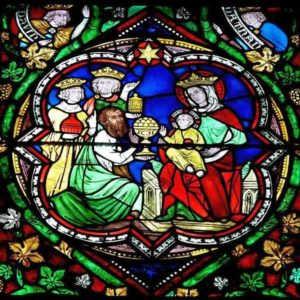 Поклоніння волхвів. Вітраж в Кельнському соборі
